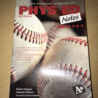 PHYSICAL EDUCATION UNIT3&4 NOTES TEXTBOOK