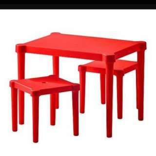 ikea兒童桌椅