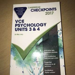 CAMBRIDGE PSYCHOLOGY UNIT 3&4 CHECKPOINTS WORKBOOK AND TEXTBOOK