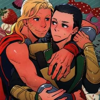 Avengers ThorxLoki 18+ doujinshi