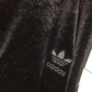 Adidas velvet leggings size 8