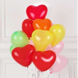 (In stock)Colourful heart balloons