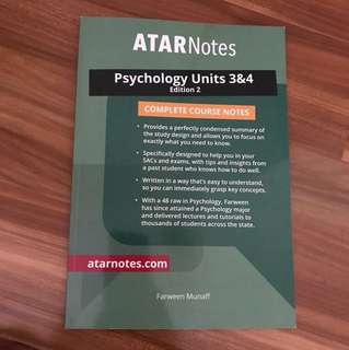 ATAR Notes Psychology Units 3+4