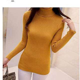 turtleneck knitted fabric top