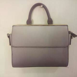 Parfois sling bag ombre violet with free mark Spencer lotion