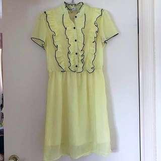 Sheer Frill Dress |🙈SPRING CLEAN $1o & UNDER SALE