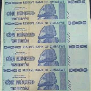 (LOOKING) ZIMBABWE 100 TRILLION