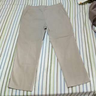 GIORDANO LADIES Light Brown 3/4 Pants