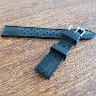Beautiful new rubber tropical diver watch strap band 18mm
