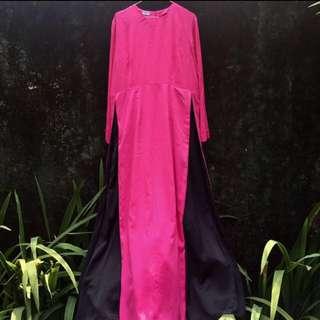 Fuchsia-Black Dress