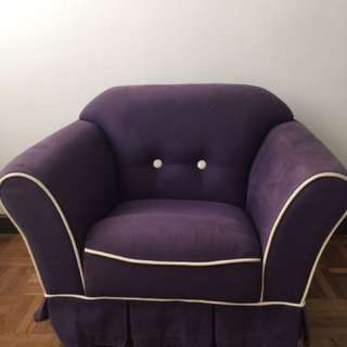 Kids sofa in dark purple
