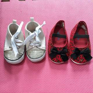 Pitter.Pat Shoes Size 20(Beige White) & Size 21 (Red)