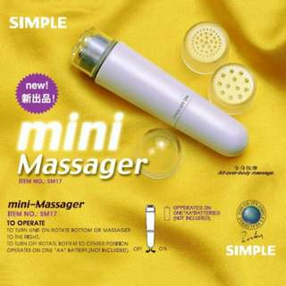 4 Head Mini Massage Electric Face Body Massager Super Relieve Stres Full Body Face Shoulder Travel Massager