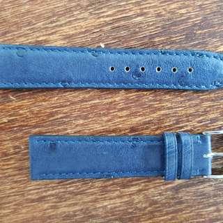 Genuine RIOS Ostrich 20mm blue watch strap band