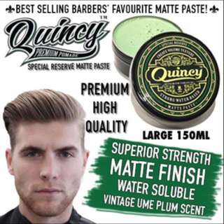 Quincy Special Reserve Matte Paste Stronghold Water Soluble 150ml Nourishing Treatment Hair Scalp