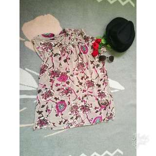 Floral Top Chinese Style See Through (Small-medium)