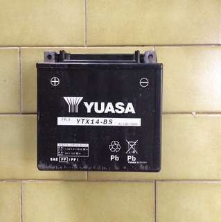 Free of charge - yuasa battery just come and take.
