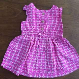 Dress carters shocking pink size 6 bulan