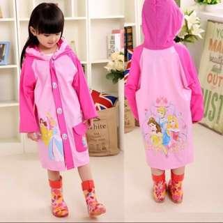 Princess raincoat for kids 3-5years old