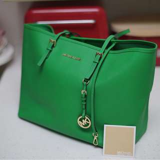 Micheal Kors Green Tote Large