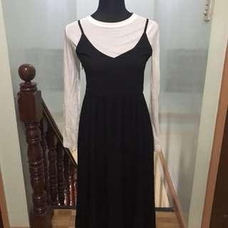 Jumper Maxi Pinafore Dress