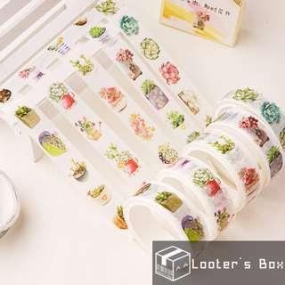 A Pot of Succulent Plant Washi Tape