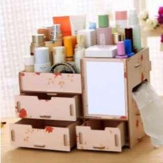 Wooden DIY Make Up organizer Box AUTUMM