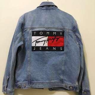🚚 全新現貨 只有一件 Tommy 牛仔外套 古著 牛仔 復古 TJ 90s Denim Jacket Mid Stone Wash Men's Light Jackets