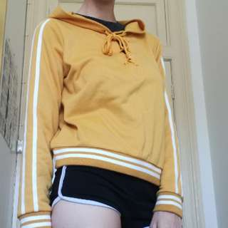 Yellow Hoodie with stripes