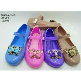 Sepatu anak jelly butterfly