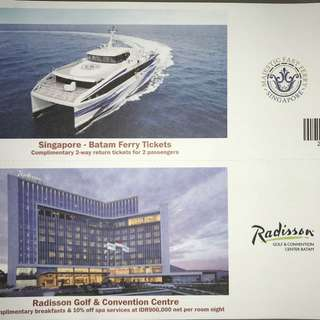 Ferry Ticket for 2 to Batam with Hotel Vouchers