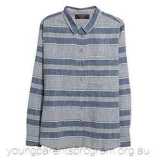 Violeta by Mango Striped Shirt