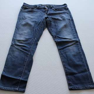Lee Rider's - Bumster Super Skinny Blue Jeans - Size 12