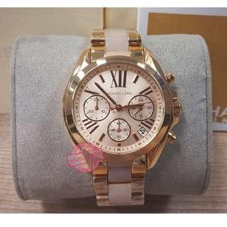 **MICHAEL KORS Style MK6066 Mini Bradshaw Rose Gold-Tone Stainless Steel Watch