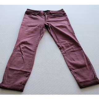 JAG women's maroon - mid rise, skinny, ankle grazers - size 10