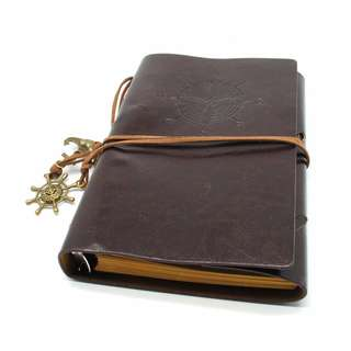 Buku Catatan Binder Kulit Retro Pirate