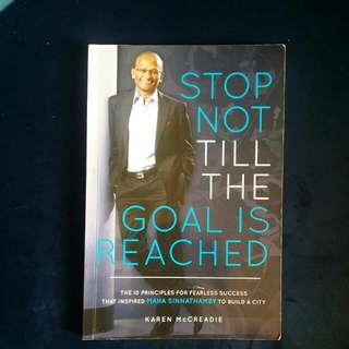 Signed Copy Of Stop Not Until The Goal Is Reached