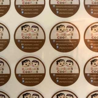 3cm round sticker