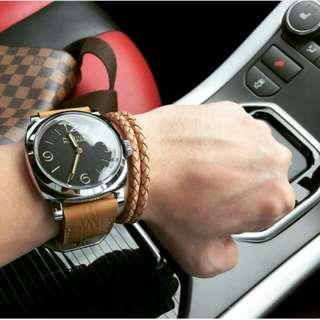 Leather Bracelet Gelang Kulit Kepang Model Bottega Massiomo Dutti