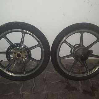 Sport Rim Yamah SS110 Set Brake Disc