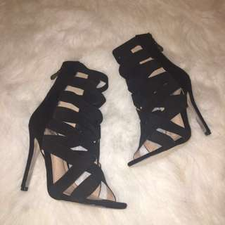 Black Fashion Nova Heels