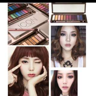 🍭🌸🍑 🙀 NOW:$12.80!!! WOW AFFORDABLE 12 MULTI COLORS  EYESHADOW PALETTE】 LETS PLAY WITH COLORS -CREATE DIFFERENT MAKEUP THEMES EVERYDAY!!! 💛 Icon Multi Eyeshadow Palette (EXPOSED) BNIB