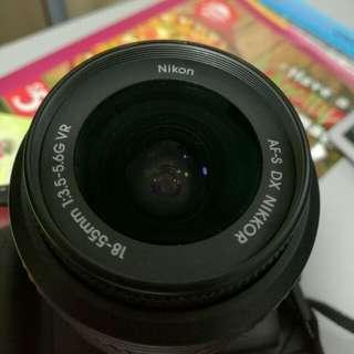 Nikon DX AF-S Nikkor 18-55mm 3.5-5.6 DSLR lens