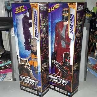 Guardians of the Galaxy Star-Lord & Rocket Raccoon Titan Hero Series Set