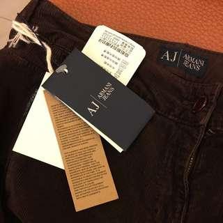 🚚 全新 正品ARMANI JEANS 絨布牛仔褲