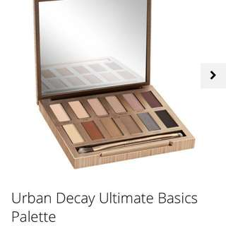 Authentic Urban Decay Naked Ultimate Basics Eyeshadow Palette