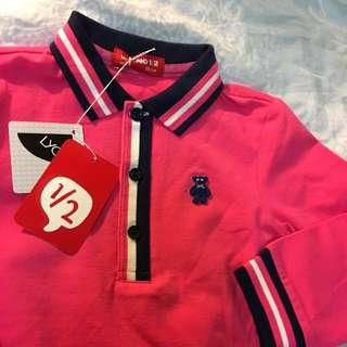 全新 WHY AND 1/2 小女童polo衫