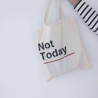 "BTS ""NOT TODAY"" TOTE BAG"