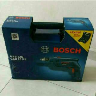 Bosch GSB 10 RE Professional Impact Drill with 100PC Hand Tool Set