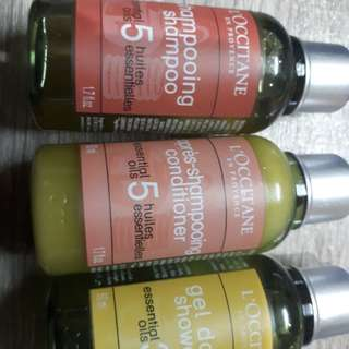 Take 2 l occitane bottles